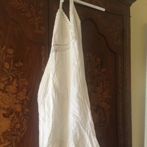 Perfect white crocheted BCBG Max Azria dress